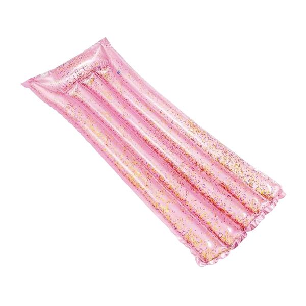 粉色充气浮排