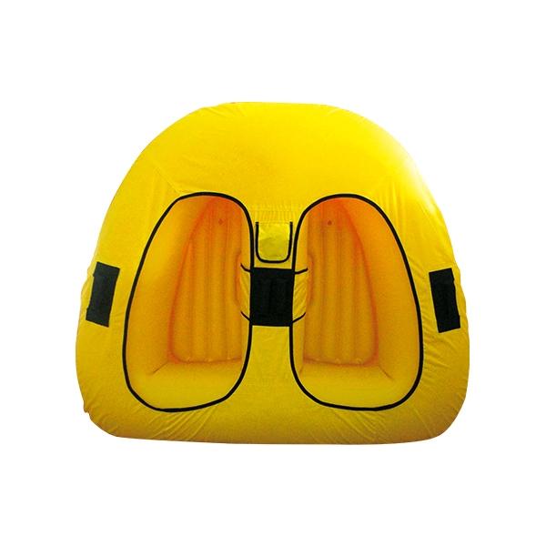 黄色双人拖拉