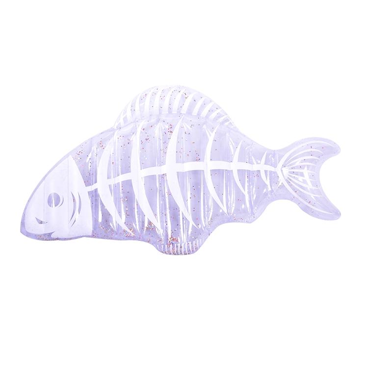 闪粉透明鱼骨浮床