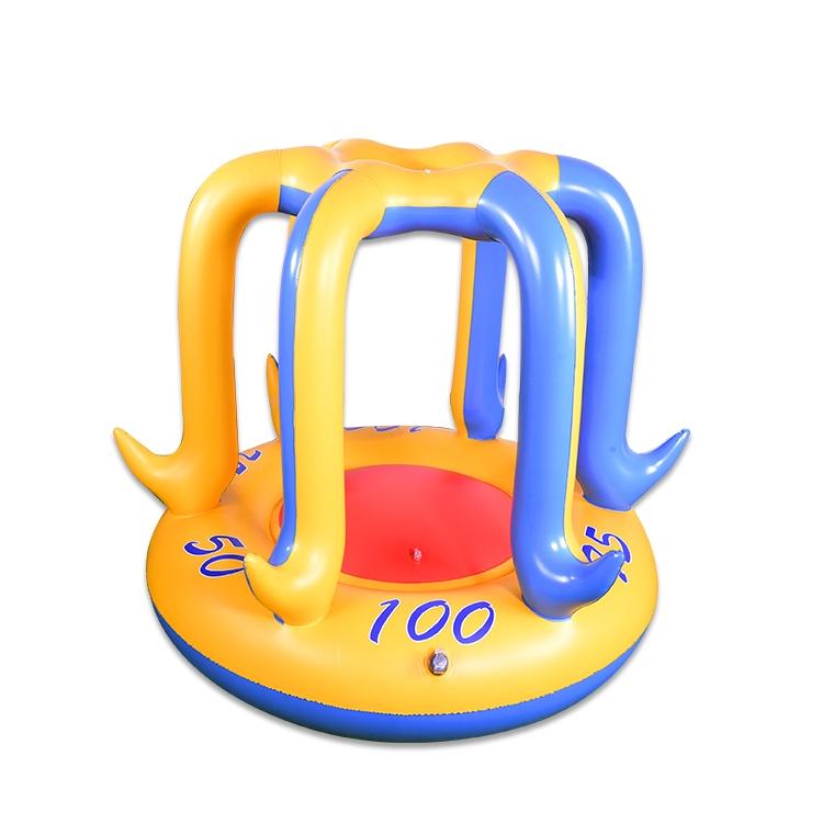 充气玩具水上篮球架