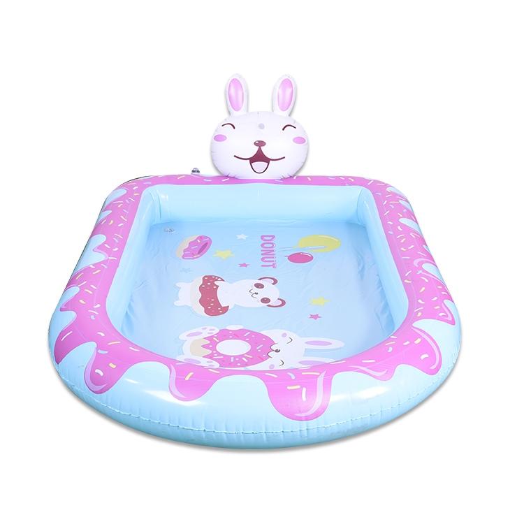 充气水池兔子喷水池