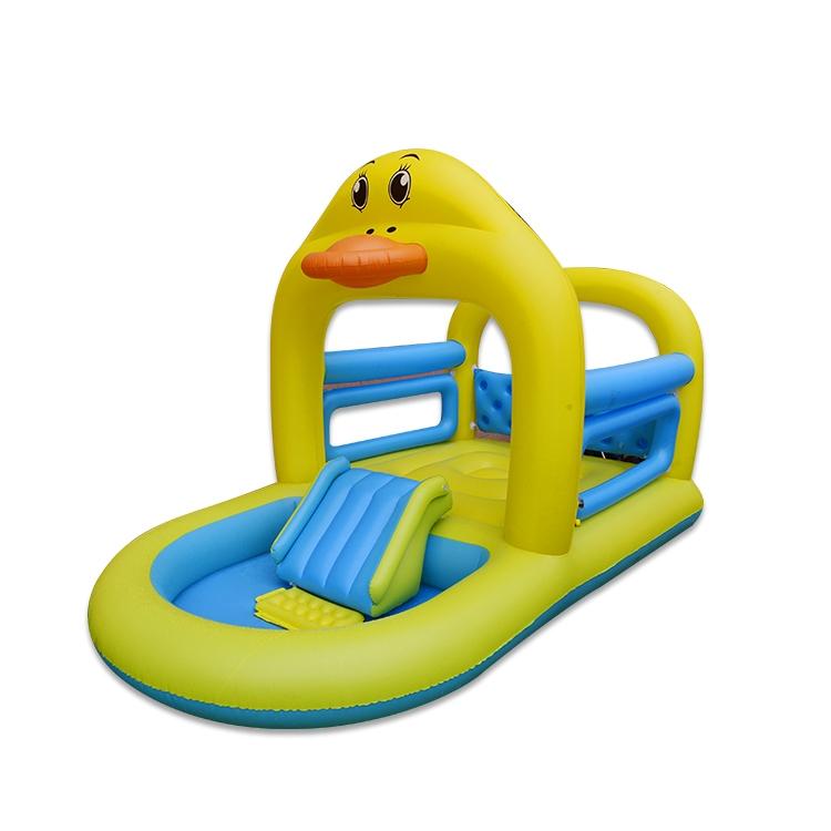 鸭子跳床滑梯水池